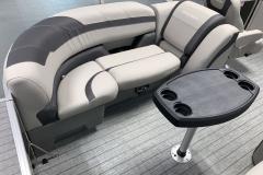Dark Grey Interior Accents on the 2022 Sylvan L3 LZ Pontoon Boat