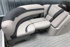 Interior Bow Furniture of the 2022 Sylvan L3 LZ Pontoon Boat