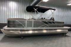 10' Folding Bimini Top of the 2022 Sylvan L3 Party Fish Pontoon Boat