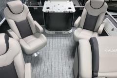 Forward Facing Fishing Chairs of the 2022 Sylvan L3 Party Fish Pontoon Boat