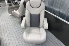 High Back Deluxe Fishing Chair of the 2022 Sylvan L3 Party Fish Pontoon Boat