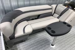 Two-Tone Grey Interior on the 2022 Sylvan L3 Party Fish Pontoon Boat