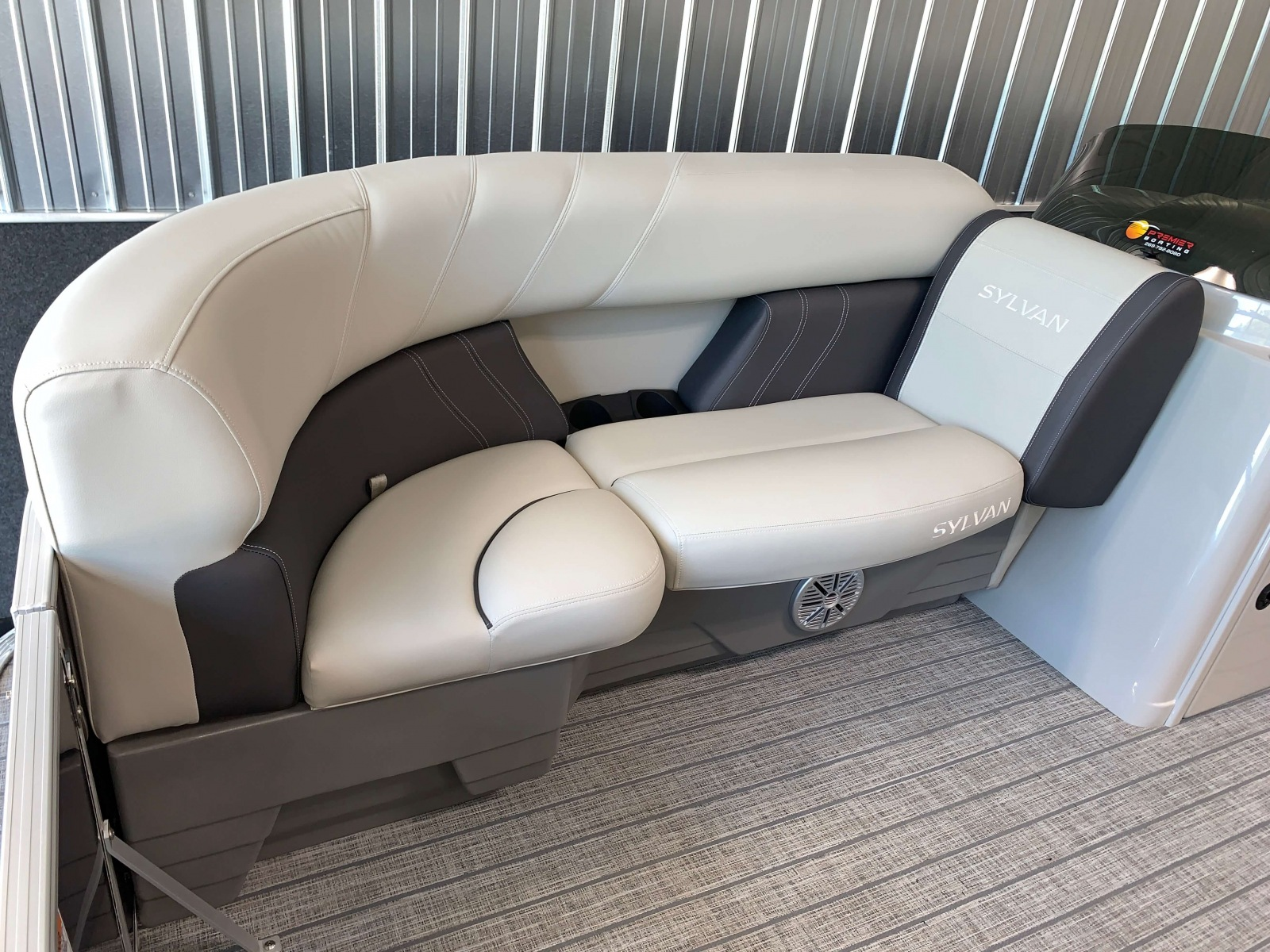 Rotocast Seat Bases on a 2021 Sylvan Mirage 8520 Cruise Pontoon Boat
