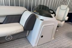 Helm Storage on a 2021 Sylvan Mirage 8520 Cruise Pontoon Boat