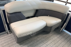 Grey Accented Interior on a 2021 Sylvan Mirage 8520 Cruise Pontoon Boat