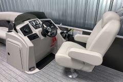 Redesigned Helm of a 2022 Sylvan Mirage 8520 Cruise Pontoon Boat