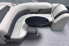 Wrap Around Seating of a 2022 Sylvan Mirage 8520 Cruise Pontoon Boat