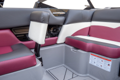 Convertible Seat with Footwell of the 2022 Moomba Mojo Wake Boat