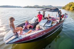 Pro Tower Bimini Top on the 2022 Moomba Mojo Wake Boat
