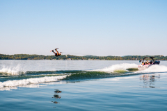 Wakeboarding the 2022 Moomba Mojo Wake Boat