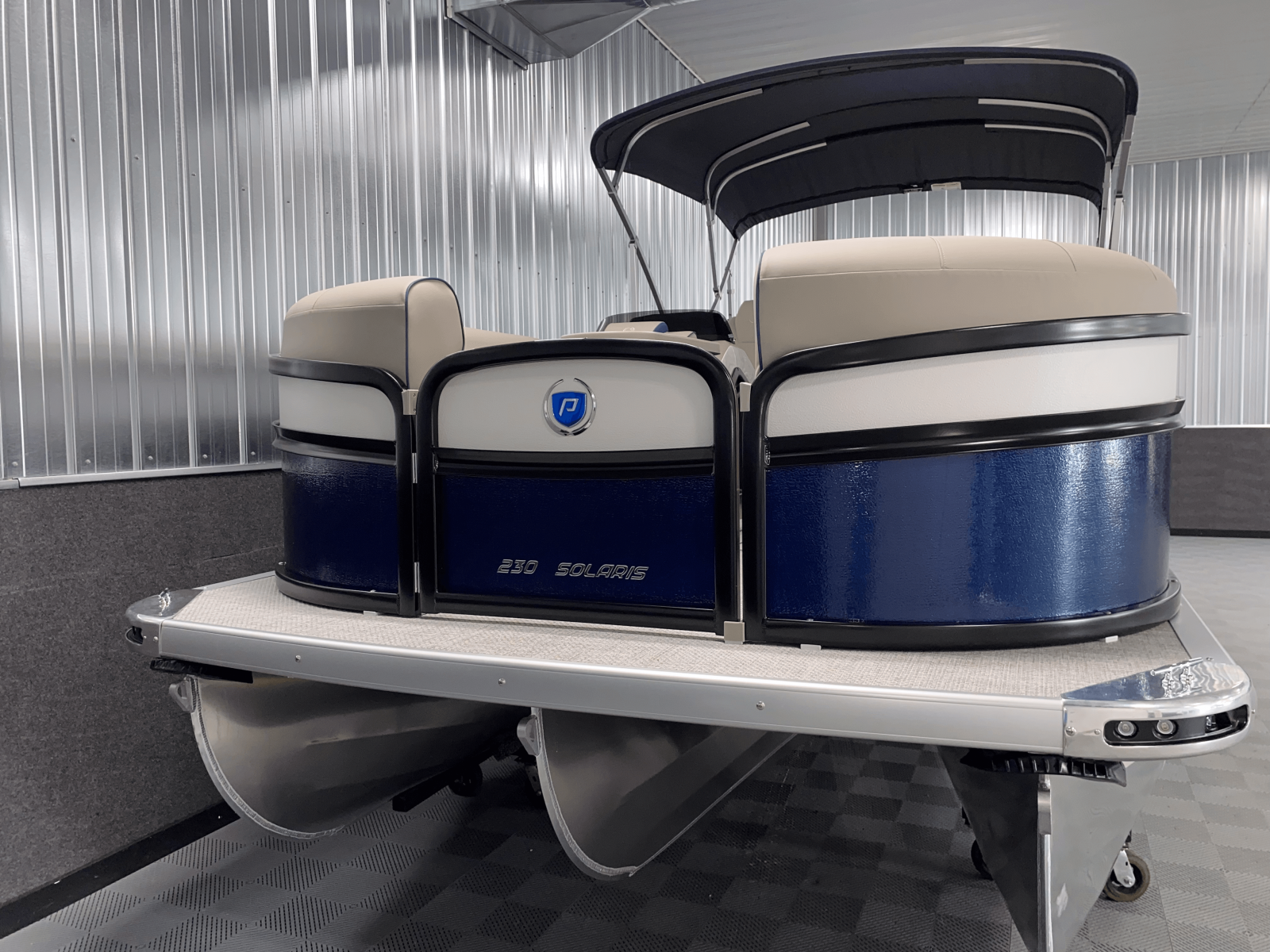 Tritoon Package of the 2022 Premier 230 Solaris RL Tritoon Boat
