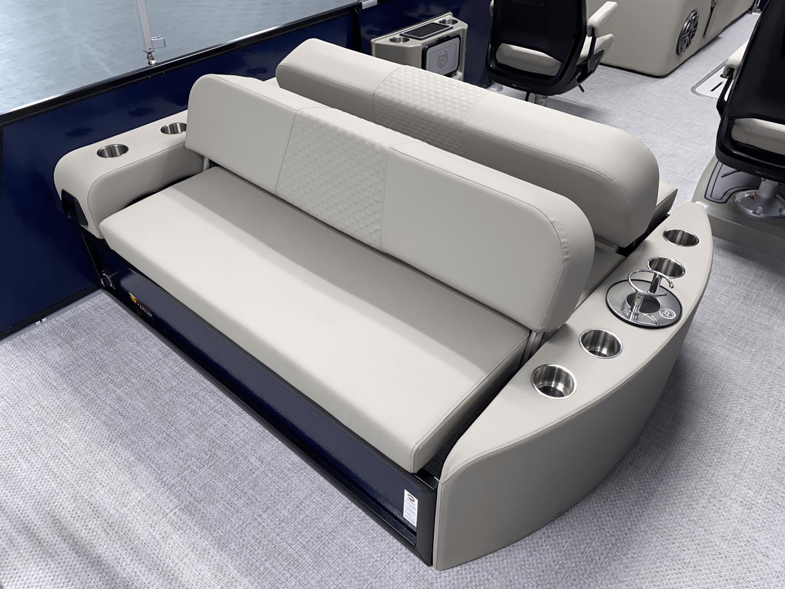 Rear Lounge of the 2022 Premier 230 Solaris RL Tritoon Boat