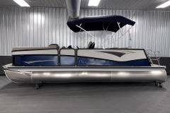 Two Tone Panel Design on the 2022 Premier 230 Solaris RL Tritoon Boat