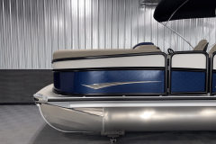 Midnight Black Rails on the 2022 Premier 230 Solaris RL Tritoon Boat