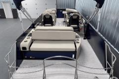 Sea Weave Vinyl Flooring of the 2022 Premier 230 Solaris RL Tritoon Boat