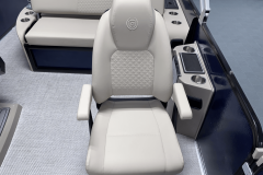 High Back Co-Captain's Chair of the 2022 Premier 230 Solaris RL Tritoon Boat