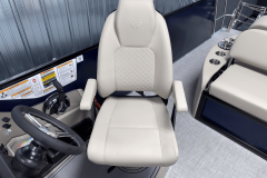 High Back Captain's Chair of the 2022 Premier 230 Solaris RL Tritoon Boat