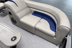 Pop-Up Changing Room Lounge of the 2022 Premier 230 Solaris RL Tritoon Boat