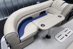 Removable Snack Table of the 2022 Premier 230 Solaris RL Tritoon Boat
