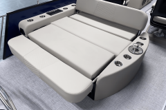 Rear Facing Rear Lounge of the 2022 Premier 230 Solaris RL Tritoon Boat