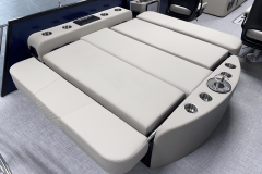 Flat Rear Lounge of the 2022 Premier 230 Solaris RL Tritoon Boat
