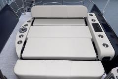 Forward Facing Rear Lounge of the 2022 Premier 230 Solaris RL Tritoon Boat
