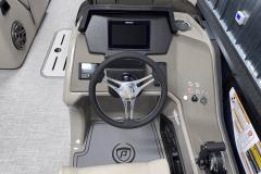 "9"" Simrad Display of the 2022 Premier 230 Solaris RL Tritoon Boat"