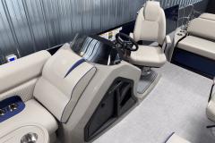 Raised Select Helm of the 2022 Premier 230 Solaris RL Tritoon Boat