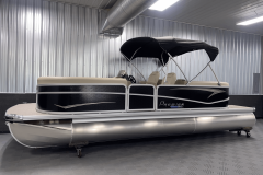 "25"" Logs on the 2022 Premier 230 Sunspree RF Tritoon Boat"