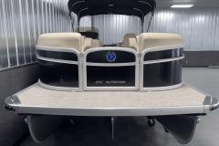 Bow Swim Deck of the 2022 Premier 230 Sunspree RF Tritoon Boat