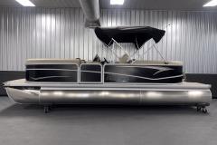 9' Straight Bimini Top of the 2022 Premier 230 Sunspree RF Tritoon Boat