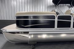 Anodized Rails on the 2022 Premier 230 Sunspree RF Tritoon Boat
