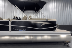 Exterior Design of the 2022 Premier 230 Sunspree RF Tritoon Boat