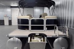 Rear Swim Deck of the 2022 Premier 230 Sunspree RF Tritoon Boat