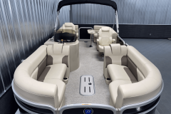Interior Layout of the 2022 Premier 230 Sunspree RF Tritoon Boat