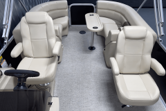 Weave Vinyl Flooring of the 2022 Premier 230 Sunspree RF Tritoon Boat