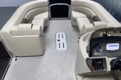 Sub-Floor Ski Locker of the 2022 Premier 230 Sunspree RF Tritoon Boat