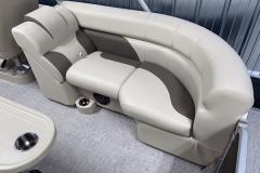 Cream and Light Roast Interior on the 2022 Premier 230 Sunspree RF Tritoon Boat