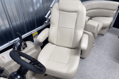 High Back Captain's Chair of the 2022 Premier 230 Sunspree RF Tritoon Boat