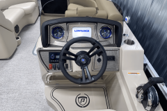 Sovereign Helm of the 2022 Premier 230 Sunspree RF Tritoon Boat