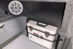 Engle Live Bait Cooler of the 2022 Smoker Craft Adventurer 188 DC Fishing Boat
