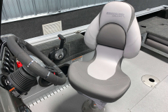 Adjustable Captain's Chair of the 2022 Smoker Craft Adventurer 188 DC Fishing Boat