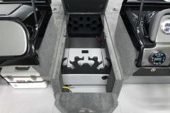 Center Rod Storage of the 2022 Smoker Craft Adventurer 188 DC Fishing Boat