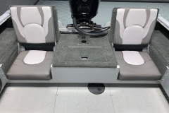 Rear Jump Seats of the 2022 Smoker Craft Adventurer 188 DC Fishing Boat