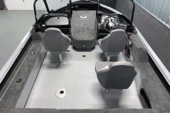 Vinyl Flooring of the 2022 Smoker Craft Adventurer 188 DC Fishing Boat