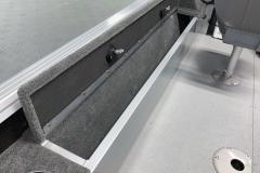 Open Rod Storage of the 2022 Smoker Craft Adventurer 188 DC Fishing Boat