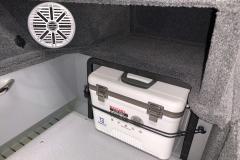 Engel Live Bait Cooler of the 2022 Smoker Craft Adventurer 188 DC Fishing Boat