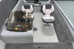 Interior Layout of the 2022 Smoker Craft Pro Angler Fishing Boat