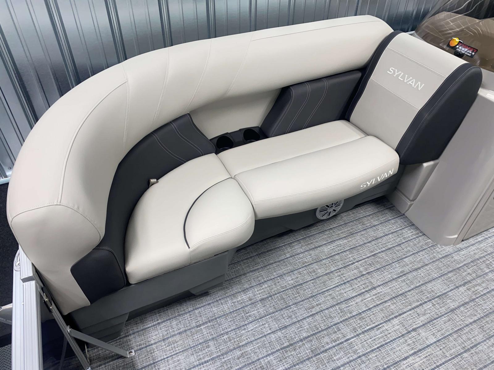 Interior Seating of the 2022 Sylvan Mirage 8520 Cruise Pontoon Boat