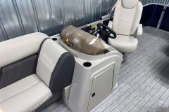 Helm Storage of the 2022 Sylvan Mirage 8520 Cruise Pontoon Boat